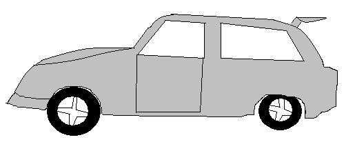 Carro desenhado no paint