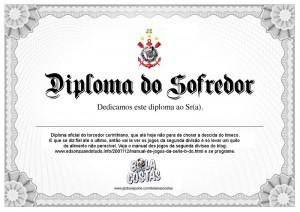 Diploma do torcedor Corinthiano