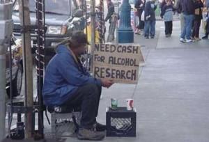 Necessito de dinheiro para pesquisas com álcool