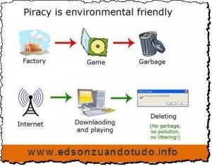 Pirataria é não polui o meio ambiente