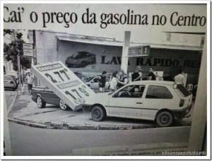 Zuando os combustiveis: Caiu o preço da gasolina