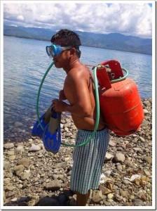 Zuando os pobres – kit de mergulho