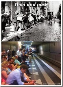 Zuando as gerações: Antes e agora